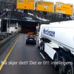 Zjazd z autostrady prosto z lewego pasa, kilka centymetrów przed ciężarówką? Jak widać da się…
