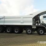 Zabudowa KH-KIPPER do 95-tonowych ciężarówek Ginaf HD 5395 TS w szczegółach i na zdjęciach
