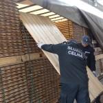 1,7 miliona sztuk papierosów ukrytych w ładunku drewna – ich wydobycie pochłonęło aż trzy dni pracy