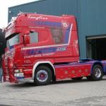 Efektowna Scania R580 Longline nową maskotką szkockiego przewoźnika Stuart Nicol Transport
