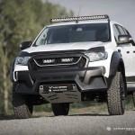 Ford Ranger wyglądający niczym potwór, za sprawą tuningu u brytyjskich i polskich specjalistów
