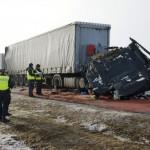 Dwa karambole na łącznie 76 samochodów – efekt mglistego poranka na trasie A1 w Łódzkiem