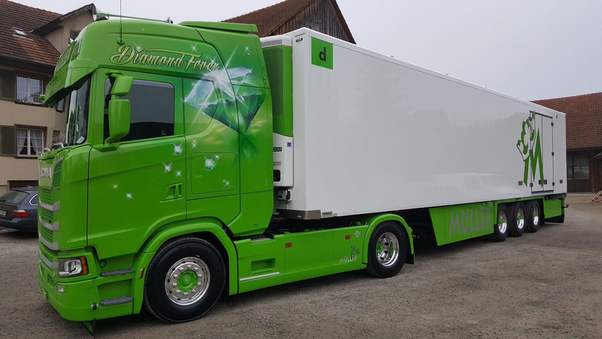 Wściekle Zielona Scania S520 Highline Quot Diamond Fever