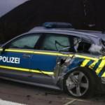 Polska ciężarówka oraz niemiecki radiowóz staranowane na A38 – zaczęło się od uszkodzenia opony