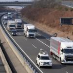 Ciężarówki czterech różnych marek w zautomatyzowanym konwoju – oto wyjątkowy test z Japonii