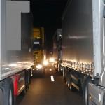 Zimowy karambol na A4 w kierunku Zgorzelca – zderzyło się dziewięć pojazdów, w tym trzy ciężarówki