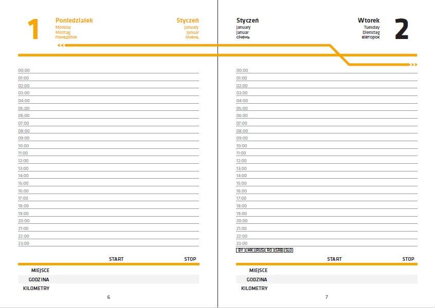 Ksiazkowy Kalendarz Dla Kierowcow Ciezarowek Przygotowany Przez Firme Marathon International 40ton