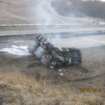 Wypadek ciężarówki wiozącej płynne aluminium – ładunek polskiego zestawu mógł mieć nawet 700°C