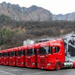 Scania R410 LNG w aż 50 egzemplarzach – producent wody San Pellegrino chce wozić na gazie