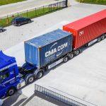 60-tonowy zestaw do przewozu kontenerów na dystansie 30 kilometrów – pierwszy taki w Belgii